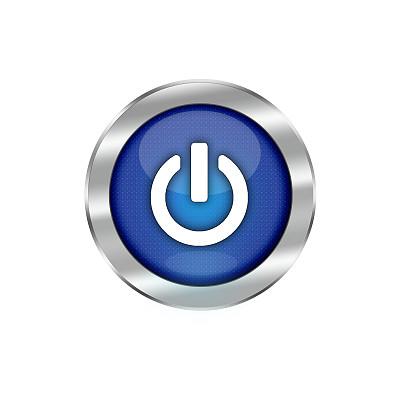 蓝色,白色,闪亮的,分离着色,开始按钮,圆形,无人,符号,计算机制图,计算机图形学