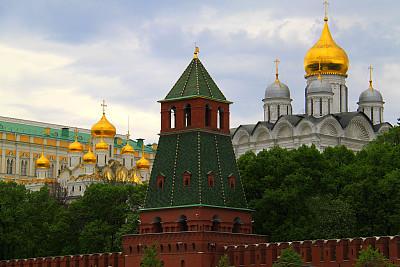 克里姆林宫,圆顶建筑,莫斯科,俄罗斯,金色,洋葱顶,正统犹太教