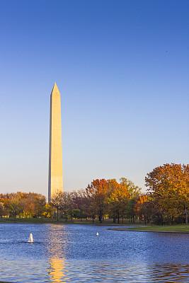 华盛顿特区,华盛顿纪念碑,华盛顿纪念馆,方尖石塔,垂直画幅,纪念碑,水,天空,公园,风