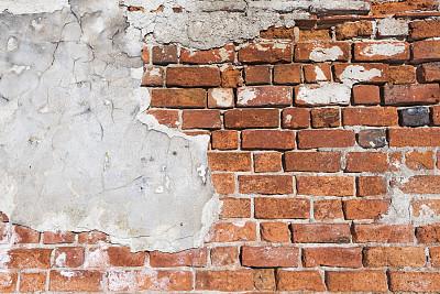 围墙,摇滚乐,四个物体,混凝土墙,正面视角,白灰泥,留白,水平画幅,纹理效果,墙