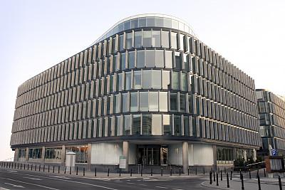 办公大楼,办公园区,马佐夫舍,办公室,正面视角,天空,新的,外立面,水平画幅,工作场所