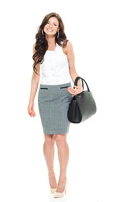 女商人,快乐,垂直画幅,正面视角,注视镜头,高跟鞋,白人,仅成年人,长发,白领