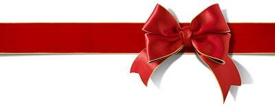 蝴蝶结,缎带,缎子,包装纸,红色,圣诞礼物,一个物体,礼物,背景分离,节日