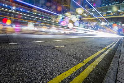 市区路,光轨,交通,路灯,运动模糊,高架道路,路,立交桥,尾灯,未来