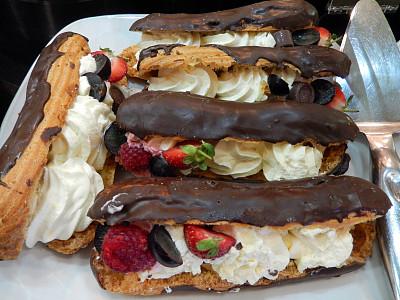 手指蛋糕,奶油,草莓,巧克力,图像,乳酪蛋糕,茶话会,奶制品,水平画幅,无人
