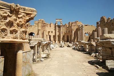 莱普蒂斯迈格纳,利比亚,纪念碑,台阶,留白,艺术,水平画幅,无人,符号,古老的