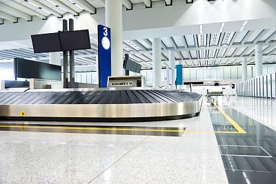 行李提取厅,行李,机场,进出港显示牌,水平画幅,无人,中央大厅,交通方式,安全,现代
