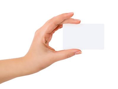 贺卡,女人,手,白色背景,分离着色,姿态,把手,一把,美,青少年