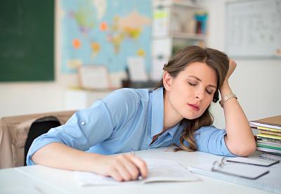 教师,教室,疲劳的,情绪压力,讲师,业主,仅成年人,青年人,过度劳累,学校