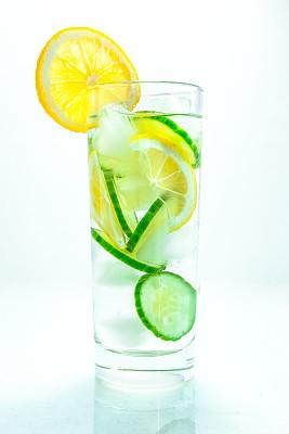 黄瓜,柠檬,玻璃,饮用水,健康食物,注入水,玻璃杯,垂直画幅,无人,维生素