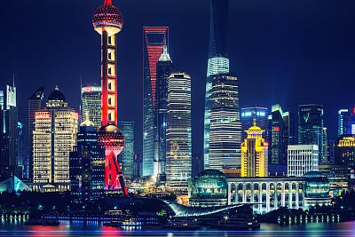 上海,黄浦江,东方明珠塔,浦东,无线电通信塔,水,天空,留白,水平画幅,无人
