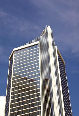 摩天大楼,垂直画幅,窗户,天空,式样,建筑,无人,蓝色,玻璃,建筑外部