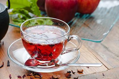 茶叶,冰茶,正面视角,茶树,休闲活动,水平画幅,无人,干花,硬木地板,热饮