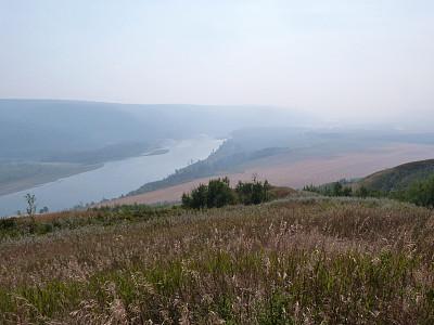 烟,山谷,河流,宁静,哮喘,森林火灾,自然,水平画幅,地形,秋天