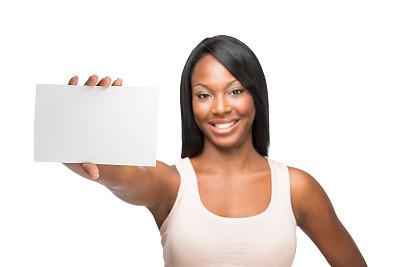 明信片,非洲人,女人,中景,留白,半身像,拉美人和西班牙裔人,水平画幅,注视镜头,非裔美国人