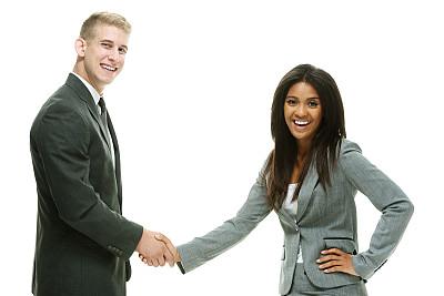 伴侣,商务,快乐,两手叉腰,正面视角,半身像,水平画幅,美人,套装,白人