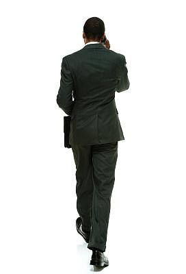 男商人,背面视角,手机,垂直画幅,套装,男性,仅男人,不看镜头,仅成年人,白领