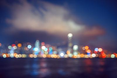 散焦,路灯,背景虚化,湖,塔,滨水,都市风景,现代,夜生活,著名景点