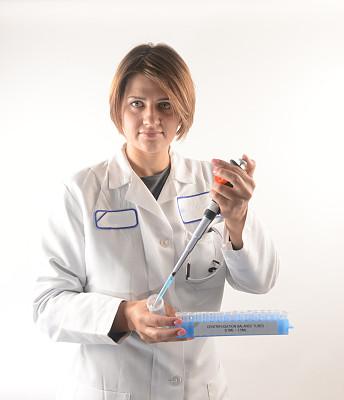 医药职业,垂直画幅,注视镜头,试管,科学实验,科学,白人,仅成年人,青年人,专业人员