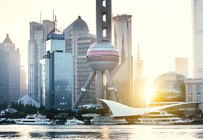 城市天际线,上海,黄浦江,东方明珠塔,外滩,黄浦区,浦东,天空,留白,未来