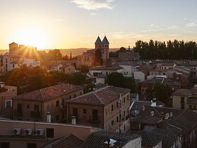 西班牙,托雷多,托莱多,卡斯蒂利亚-拉曼恰,天空,水平画幅,无人,古老的,户外,都市风景