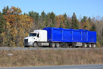 垃圾车,公路,卡车,货车运输,半挂式卡车,水平画幅,无人,巨大的,陆用车,货运