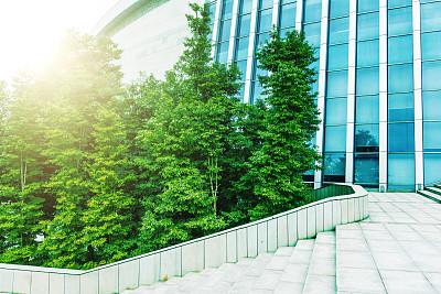 背景,办公大楼,未来,公园,水平画幅,无人,户外,石材,干净,都市风景