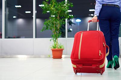 商务旅行,水平画幅,旅行者,行李,交通方式,白人,仅成年人,青年人,商业金融和工业,背面视角