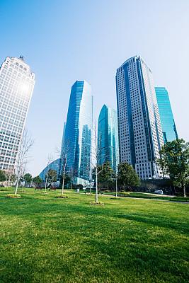 上海,现代,陆家嘴,建筑外部,银行,浦东,垂直画幅,美,公园,无人