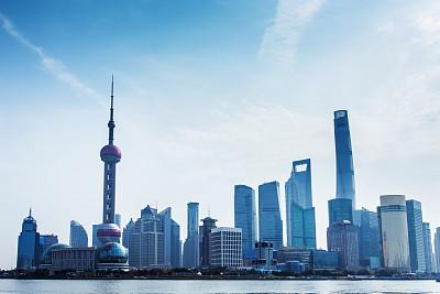 现代,上海,黄浦江,东方明珠塔,水,天空,水平画幅,无人,户外,浦东