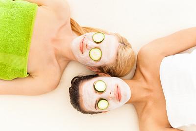 黄瓜,人的眼睛,女人,切片食物,面具,面膜,洁面乳,高视角,spa美容,健康