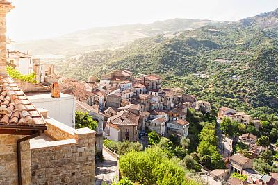 城镇,意大利,巴西利卡塔大区,巴西利卡塔,天空,台阶,水平画幅,高视角,建筑,无人