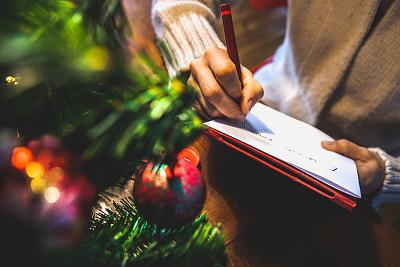 圣诞卡,留白,水平画幅,圣诞节,消息,古老的,古典式,圣诞树,乡村风格,云杉