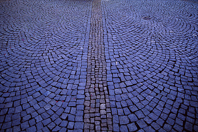 人行道,城镇,水平画幅,纹理效果,无人,块状,平视角,透视图,户外,石材