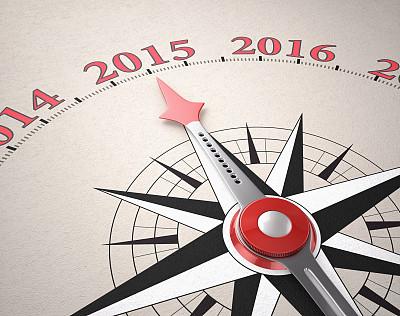 新年前夕,2015年,新的,水平画幅,形状,无人,符号,方向,十二月