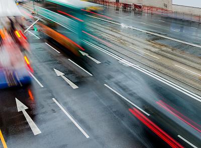 交通,城市,车道标志,交通箭头标志,留白,水平画幅,高视角,无人,符号,忙碌