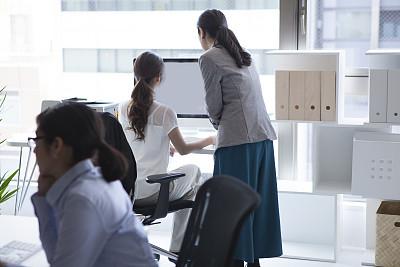 现代,办公室,女商人,打印机,室内设计师,文档,经理,仅成年人,眼镜,日本人