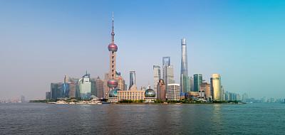 上海,2016,金茂大厦,上海环球金融中心,黄浦江,东方明珠塔,水,水平画幅,无人,户外