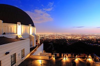 格里菲思公园天文台,格里菲思公园,好莱坞,天文台,公园,美国,艺术,水平画幅,建筑,夜晚