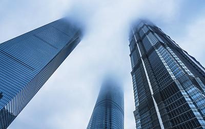 上海,摩天大楼,金茂大厦,天空,未来,水平画幅,无人,玻璃,东亚,户外