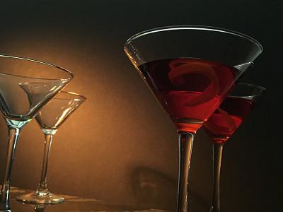 马提尼,苦艾酒,马提尼酒杯,下班后,水平画幅,无人,香橙皮,精力,玻璃杯,鸡尾酒