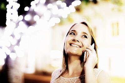 夜晚,闪亮的,女人,可爱的,留白,半身像,仅成年人,青年人,夜生活,彩色图片