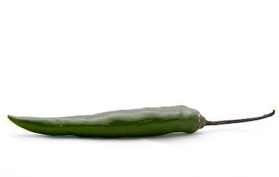 辣椒,绿色,绿辣椒,龙目岛,水平画幅,无人,椒类食物,白色背景,香料,背景分离