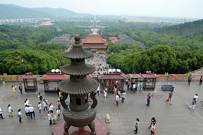 乐山大佛,江苏省,山,灵山,大菩萨,大运河,水平画幅,高视角,当地著名景点,东亚