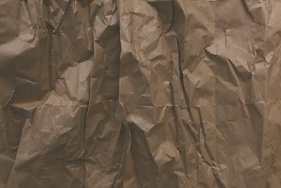 弄皱的,包装纸,崎岖不平,纸袋,留白,牛皮纸,水平画幅,无人,古老的,古典式