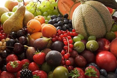 水果,浆果,酿酒蒸馏器,白葡萄,油桃,红醋栗,水平画幅,黑刺莓,樱桃,无人