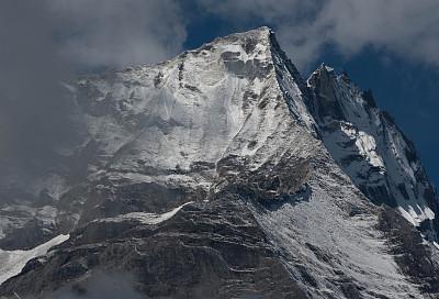 云,山顶,坤布,珠穆朗玛峰,尼泊尔,天空,水平画幅,雪,无人,喜马拉雅山脉