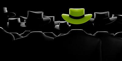 男人,个性,绿帽子,黑色,水平画幅,与众不同,2015年,全景,成年的,套装