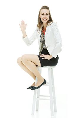 吧椅,女商人,幸福,垂直画幅,套装,仅成年人,中年人,商务,女人,仅一个女人