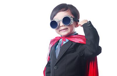 飞行风镜,模仿成人,演出服,留白,学龄前,黑发,套装,未成年学生,男商人,男性